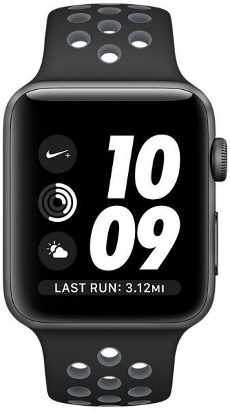online store a1c0d 58f1c Apple Watch Nike+ Series 2 - 42mm Space Gray Aluminium Case with Black &  Cool Grey Sport Band, watchOS 3, MNYY2AE/A