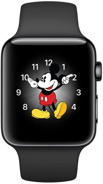 cheap for discount 76288 a8e86 Apple Watch Series 2 - 42mm Space Black Stainless Steel Case with Space  Black Sport Band, watchOS 3, MP4A2AE/A