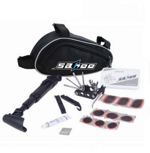 15 in 1 Cycling Bicycle Tools Bike Repair Kit Set with Pouch Pump Black