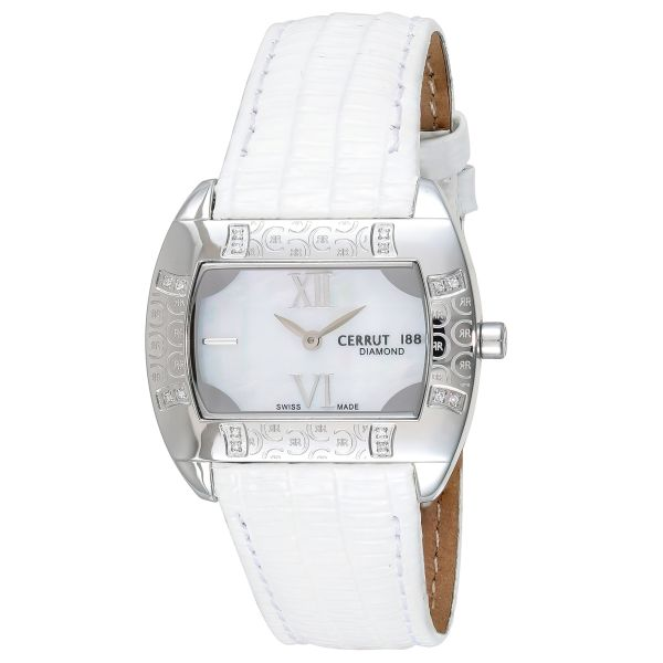 8063475b13 Cerruti 1881 Women Mother of Pearl Dial Leather Band Watch -C ...