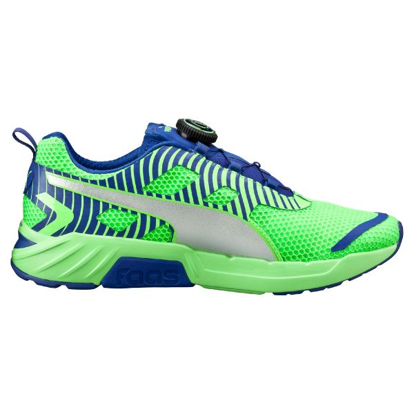 7141e6906 Puma 18784203 Speed 300 S Disc Running Shoes for Men - Green, Silver, Blue