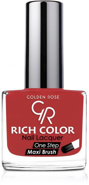 Rich Color Nail Lacquer By Golden Rose Color Red No84 Star Pop White R15