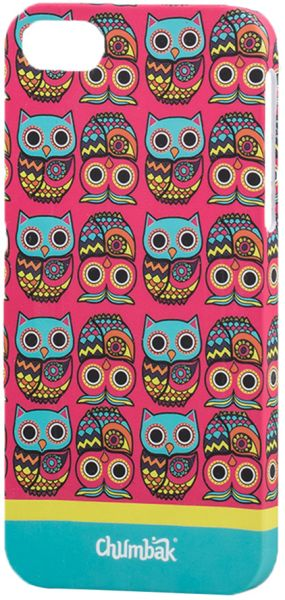 finest selection 304c3 1b532 Chumbak iPhone 5/iPhone 5s Owl Printed Back Cover - Pink/Blue/Yellow