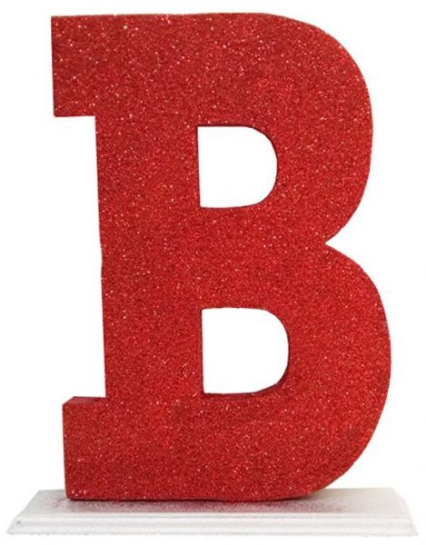 Decoration Letter B - Red