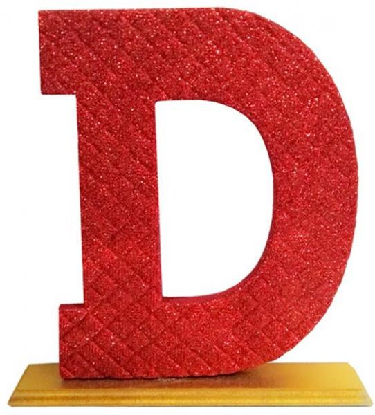 Decoration Letter D   Red