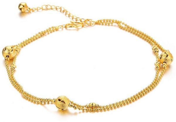 6c2c669cea872b 18K Gold Plated Fashion Balls Ankle Chain Charm Lucky Bangle For ...