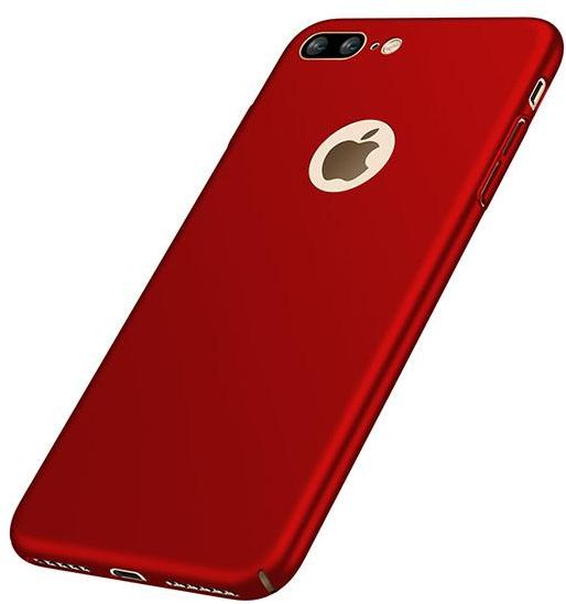 check out f6363 80a1a iPhone 7 Plus Case Cover (2016), Smoothly Shield Skin Ultra Thin Slim Full  Body Protective Scratch Resistant iPhone7 Plus Cover-Red