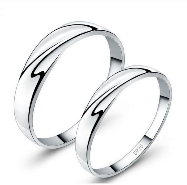 e226439f95 925 Sterling Silver Simple Fashion Interwined Love Wedding Gift ...