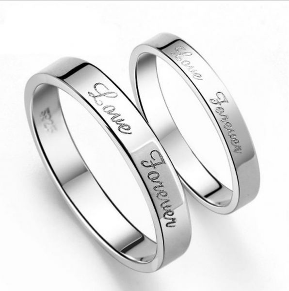76f2a27c8c 925 Sterling Silver Simple Fashion Interwined Love Wedding Gift ...
