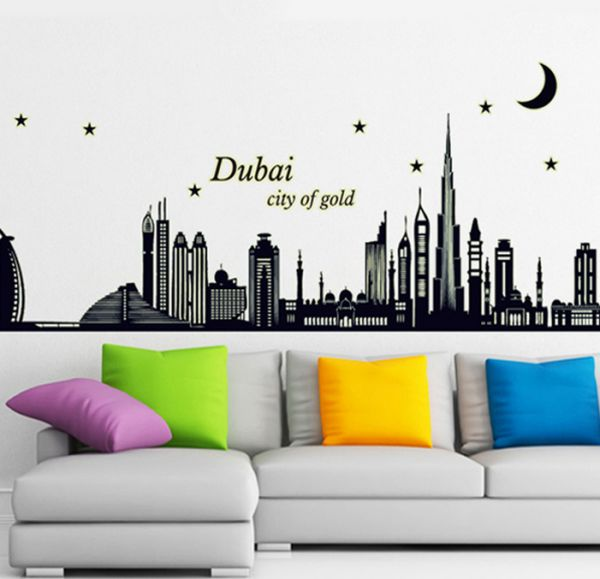 dubai city of gold wall sticker 3d removable wallpaper for home