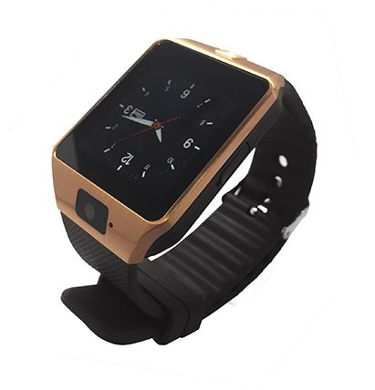 Derta H2 Smart Watch with Brown Strap, Gold - DWH2-GOLD