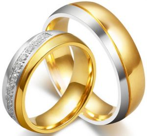 Buy Wedding Gold Couple Rings Qingsblunaroxi Ksa Souq