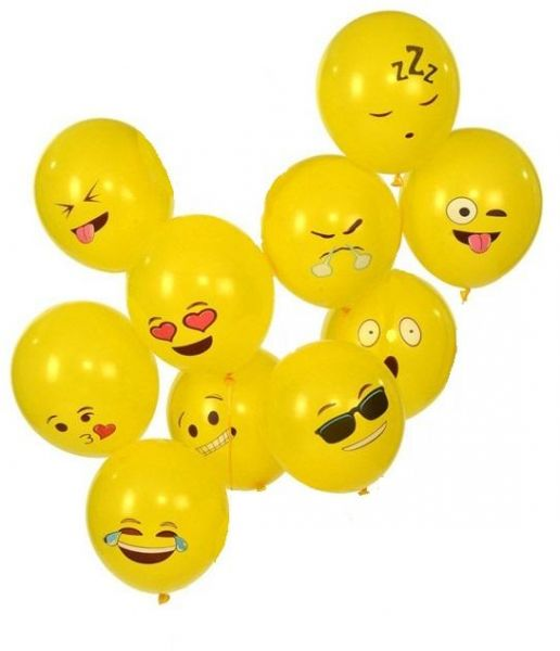 10 Pieces Smiley Emoji Party Balloons