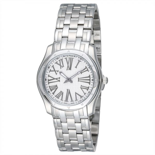 Aigner Lazio Women's White Dial Stainless Steel Band Watch - A42206