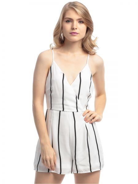 d7472cc649a MISSGUIDED P9661132 Striped Playsuit for Women