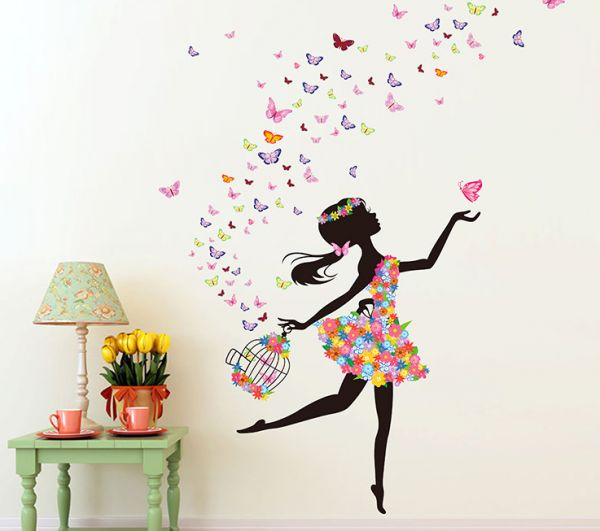 Flower Fairy Beautiful Wall Decals