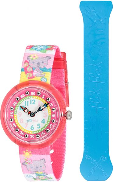 Flik Flak by Swatch Haleiwa Girl White Dial Fabric Band Watch - ZFBNP053  50658ed9d10