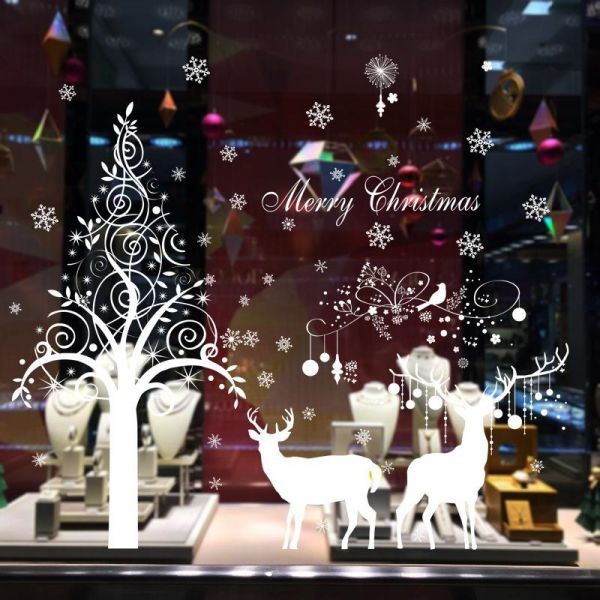 White Tree And Snowflakes Wall Decal Elk Christmas Festival Wall Stickers Decorations Removable Art Decor Diy Christmas Tree Wall Decal For Christmas Wall Living Room Bedroom Shop Window Office Price In Saudi,6 Bedroom Single Story Simple 5 Bedroom House Plans