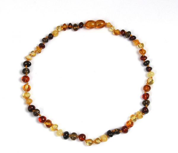 313532e6c687 Baltic Amber Teething Necklace for Baby