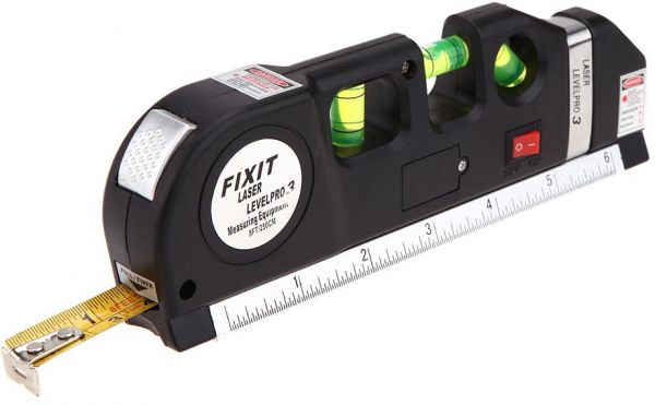 fixit laser level pro 3 multi purpose measuring tool with 8 feet tape price in saudi arabia. Black Bedroom Furniture Sets. Home Design Ideas