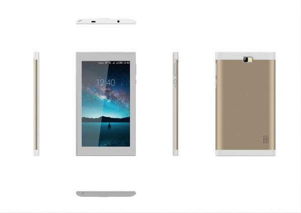 Mtouch M733 Tablet Dual Sim - 7 Inch, 8GB, 512MB, White/Gold