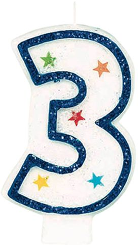 Buy Amscan Number 3 Birthday Candle