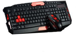 3a197bf9402 2.4G USB gaming wireless keyboard and mouse combo set For Desktop PC Laptop