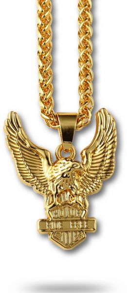 43c05ce0cf3 Retro Necklace 18K Gold Plated Eagle Pendant Hip Hop Jewelry Fashion Jewelry