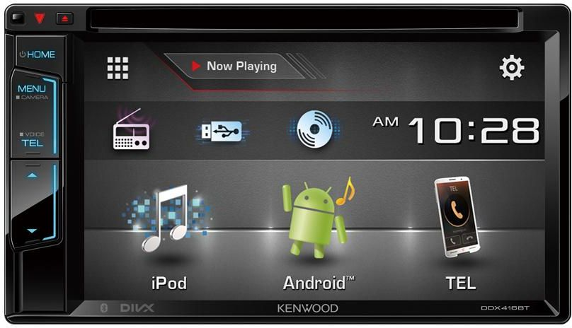 Kenwood DDX-416BTM 2-DIN Touchscreen Stereo DVD/USB/AUX Player iOS/Android/Bluet./Cam./Sub-woofer Control