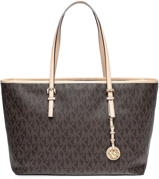 dcf27454f94140 Michael Kors 30T5GTVT2B-200 Jet Set Travel Md Tz Funt Monogram Tote ...