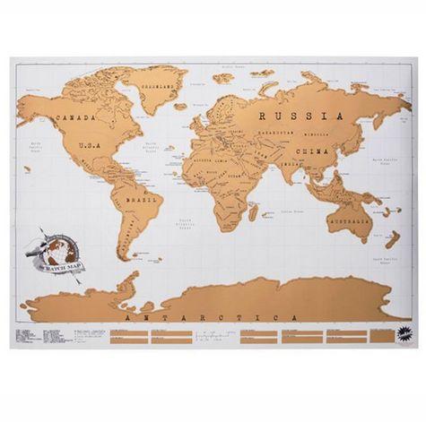 Scratch map personalised world map poster office supplies scratch map personalised world map poster gumiabroncs Image collections
