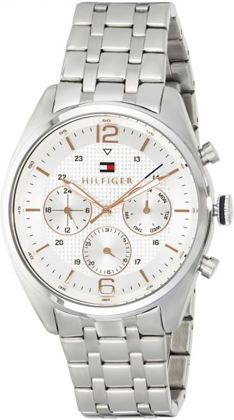46ca5e99 Tommy Hilfiger Watch for Men - Analog Stainless Steel Band - 1791186 ...