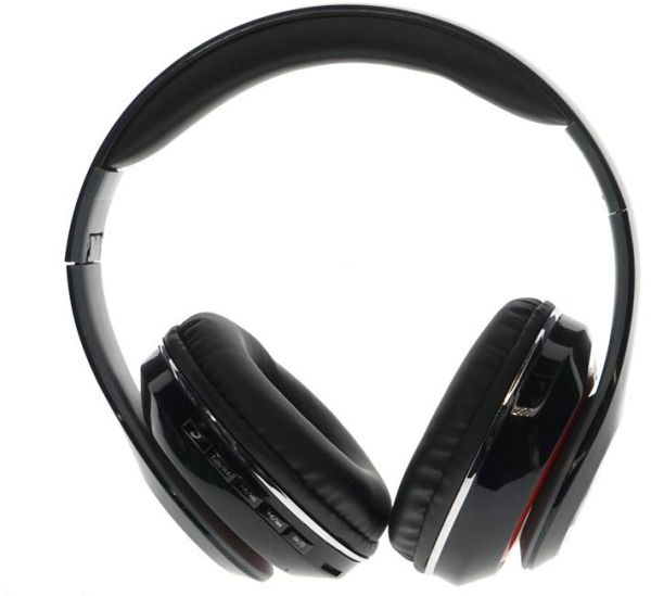 Stereo headphones with bluetooth STN-13 black color