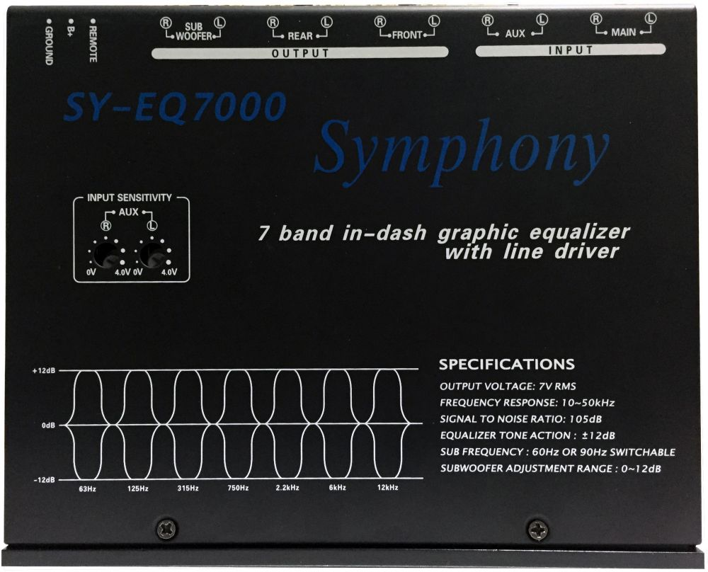 Symphony SY-EQ7000 7-Band Graphic Equalizer ‫(Zero Power)