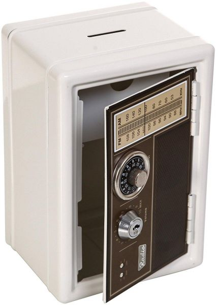 Retro Bank Design.Classic Retro Design Metal Safe Piggy Bank With Dual Safe Lock