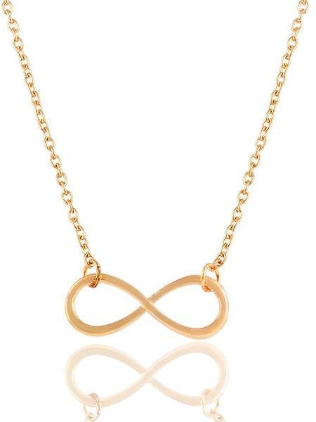 bbeff8820bc Luxury charm alloy chain infinity gold pendant necklace for women ...