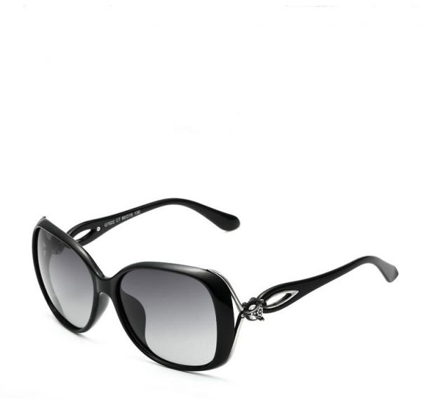 c2956cc700 VEITHDIA Vintage Polarized Sunglasses with Oval Lens for Women-Black ...