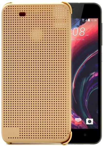 htc 10 case gold. htc dot view flip cover case for desire 10 pro - gold htc