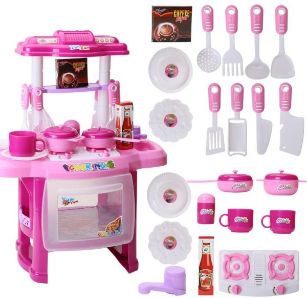 Big Kitchen Cook Set Toy Kids Play Pretend Kitchen Set Toys Baby