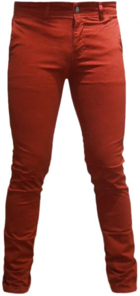 Blueberry Burgundy Slim Fit Trousers Pant For Men