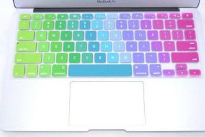 Multi Color Rainbow Series Silicone Keyboard Cover Skin Macbook Air 13 Inch Macbook Pro 13.3 15 17 Inch