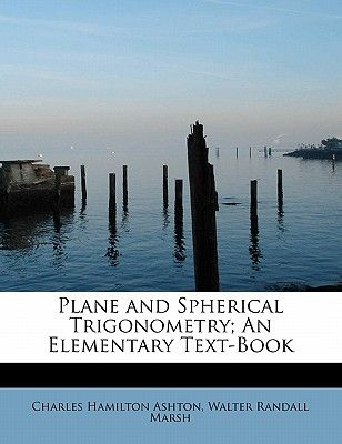 Trigonometry spherical plane book and