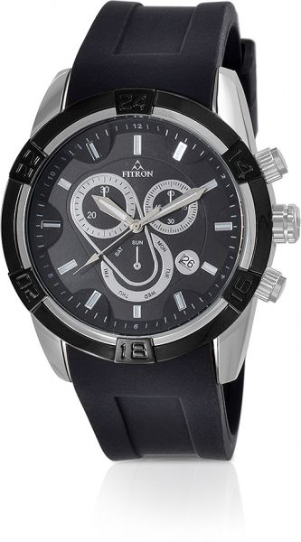 57a0f0468 Fitron Watch for Women - Casual Watch Black Band - FT8235M180202 ...