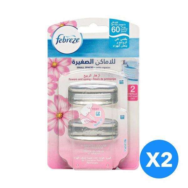 Febreze Small Spaces - Flower And Spring Refill - Pack of 2-Pieces ...