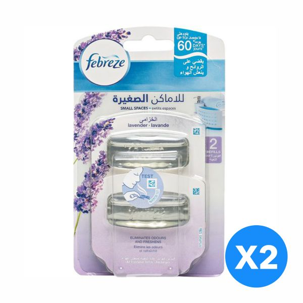 Souq| Febreze Small Spaces - Lavender Refill - Pack of 2-Pieces (2X5 ...