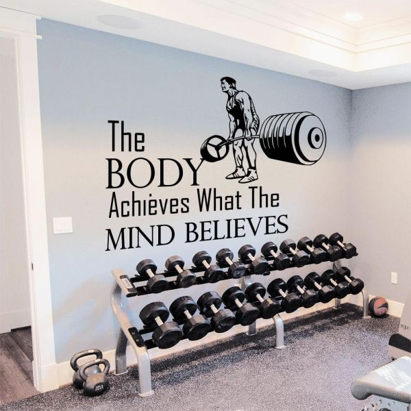 70.00 AED & Souq | Wall Decals for Gym Fitness Quotes Design Home Decor ...