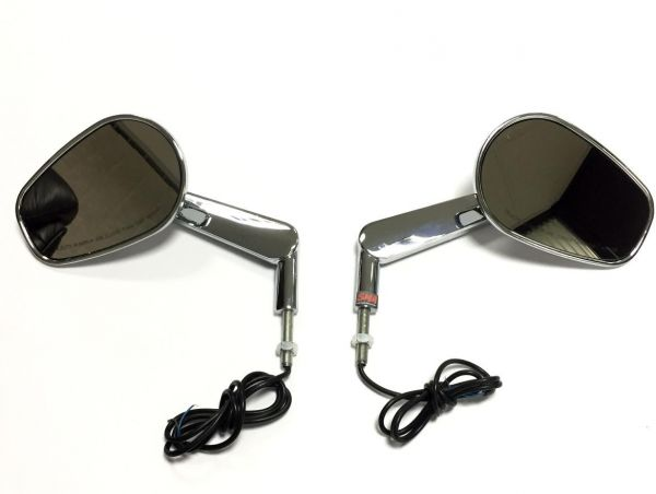Sma Rear View Mirrors With Led Front Turn Signals For Harley V Rod