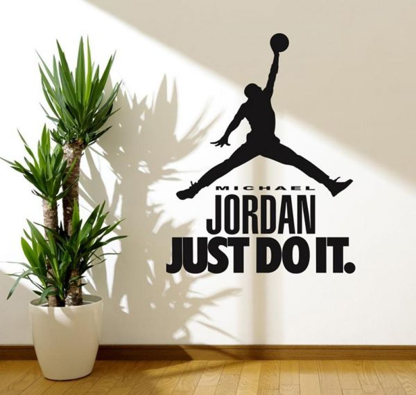 Wall Decals For Living Room, Sports Person Michael Jordan Quotes Celebrity  Superstar Stickers, Home Decor, Wall Stickers