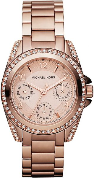 ffedb84236a8 Michael Kors Blair Multi Function Watch for Women - Analog Stainless Steel  Band - MK5613