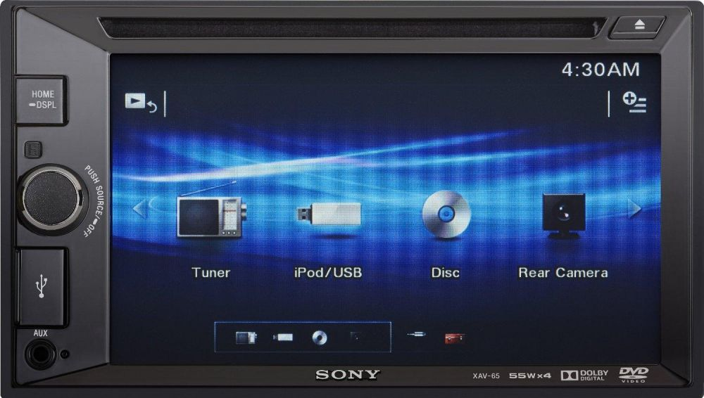SONY Xplod (XAV-65) 2-Din Touchscreen Stereo, DVD/USB/AUX Player, iOS/Android/SubWoofer/Rear View Camera Control